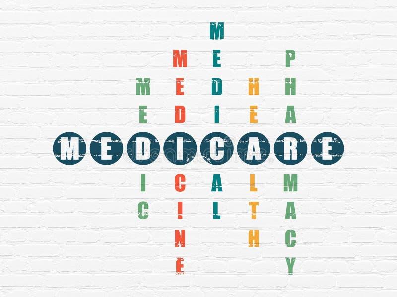 Έννοια υγείας: Medicare στο γρίφο σταυρόλεξων στοκ φωτογραφία με δικαίωμα ελεύθερης χρήσης