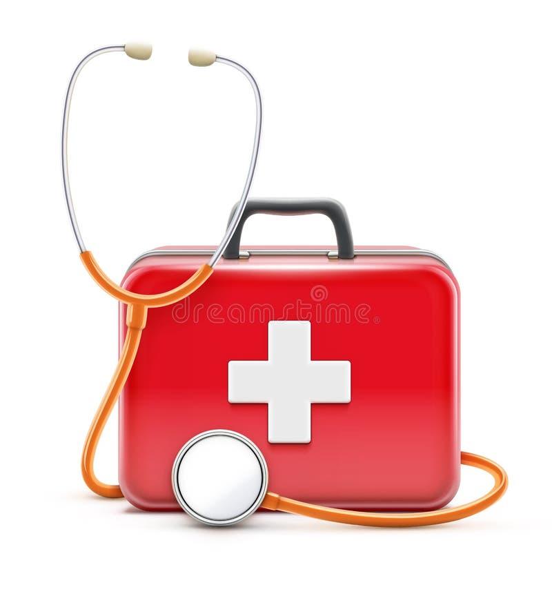 Έννοια υγειονομικής περίθαλψης διανυσματική απεικόνιση