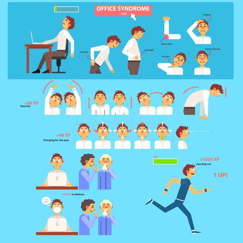 Έννοια υγειονομικής περίθαλψης συνδρόμου γραφείων διανυσματική απεικόνιση