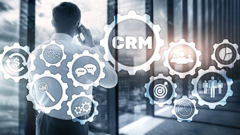 Έννοια υπηρεσιών διοικητικής ανάλυσης πελατών επιχείρησης CRM Διαχείριση σχέσης απεικόνιση αποθεμάτων