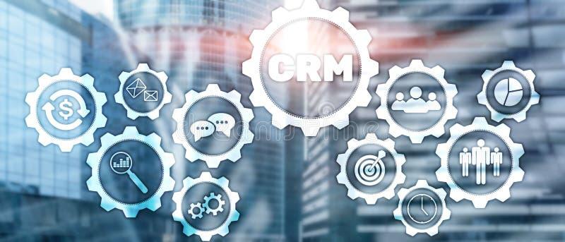 Έννοια υπηρεσιών διοικητικής ανάλυσης πελατών επιχείρησης CRM Διαχείριση σχέσης διανυσματική απεικόνιση