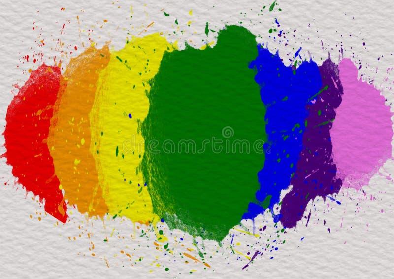 Έννοια υποβάθρου μήνα υπερηφάνειας LGBT απεικόνιση αποθεμάτων