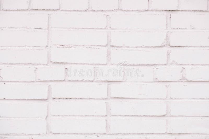 Έννοια υποβάθρου σύστασης του άσπρου υποβάθρου τουβλότοιχος στο αγροτικό δωμάτιο στοκ εικόνες