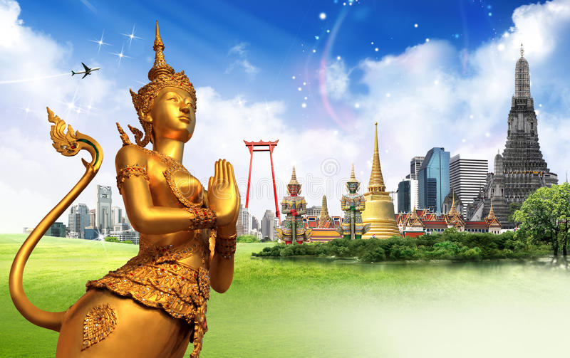Έννοια ταξιδιού της Ταϊλάνδης στοκ φωτογραφίες
