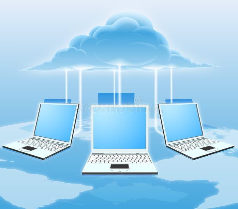 έννοια υπολογισμού σύννεφων διανυσματική απεικόνιση