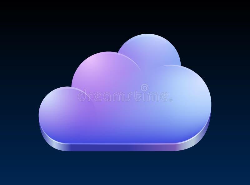 Έννοια υπολογισμού σύννεφων. διανυσματική απεικόνιση