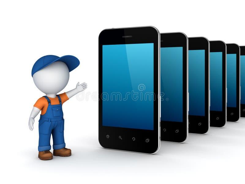 Έννοια υποστήριξης τεχνολογίας. διανυσματική απεικόνιση