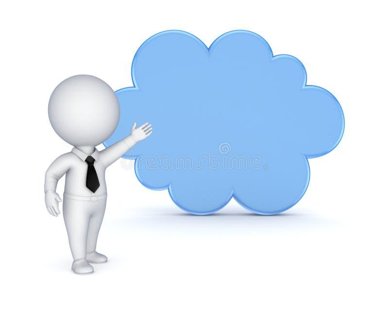 Έννοια υπολογισμού σύννεφων. ελεύθερη απεικόνιση δικαιώματος