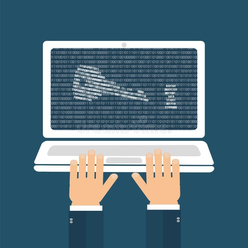 Έννοια χάκερ κωδικού πρόσβασης διανυσματική απεικόνιση