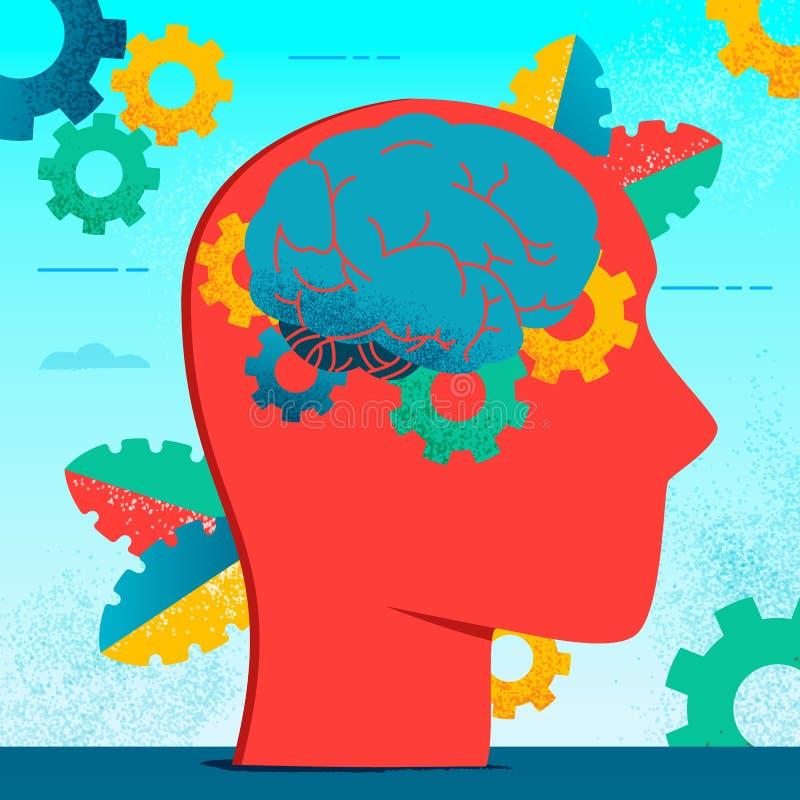 Έννοια 2 χαρακτήρα νευρολογίας διανυσματική απεικόνιση