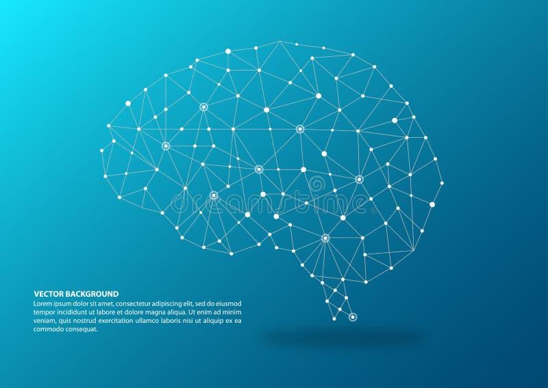 Έννοια χαρτογράφησης εγκεφάλου ελεύθερη απεικόνιση δικαιώματος