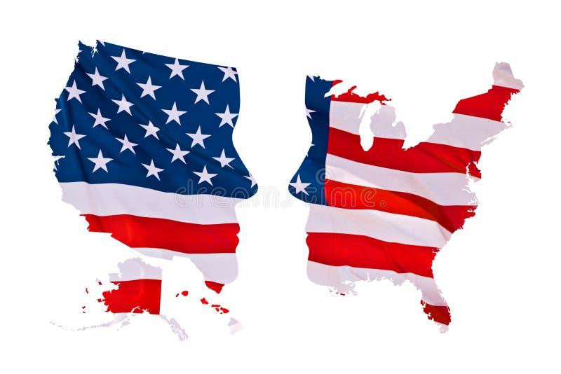 2016 έννοια χαρτών αμερικανικών προεδρικών εκλογών που απομονώνεται στο λευκό στοκ εικόνα
