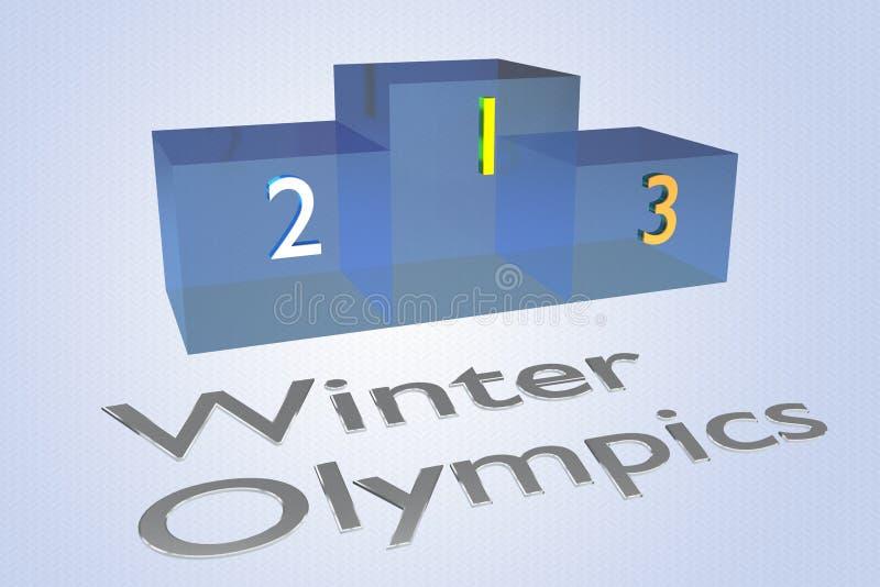 Έννοια χειμερινών Ολυμπιακών Αγώνων ελεύθερη απεικόνιση δικαιώματος