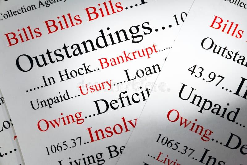 Έννοια χρέους στοκ εικόνες με δικαίωμα ελεύθερης χρήσης