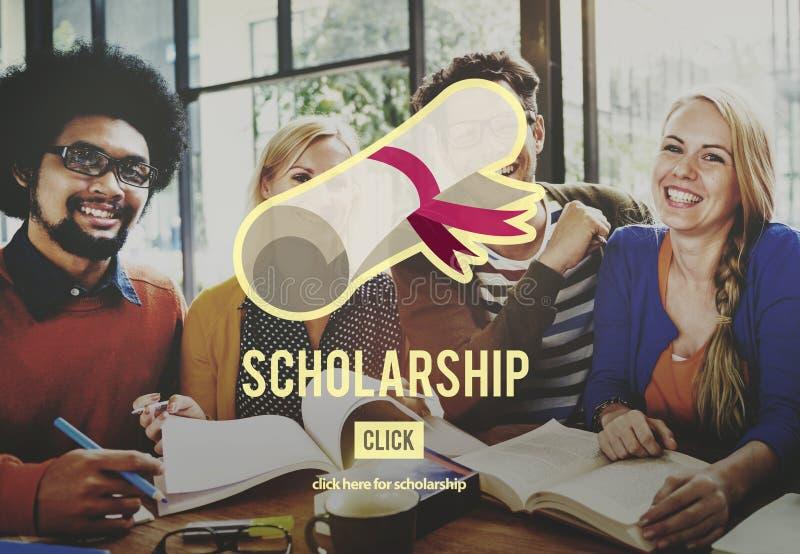 Έννοια χρημάτων δανείου εκπαίδευσης κολλεγίου ενίσχυσης υποτροφιών στοκ εικόνα