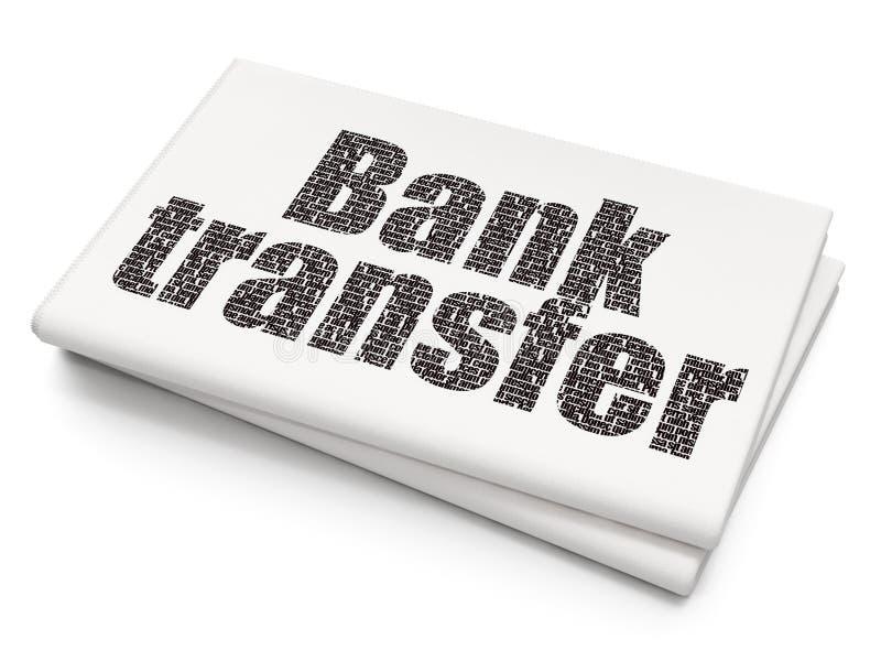 Έννοια χρημάτων: Μεταφορά τράπεζας στο κενό υπόβαθρο εφημερίδων στοκ φωτογραφία με δικαίωμα ελεύθερης χρήσης
