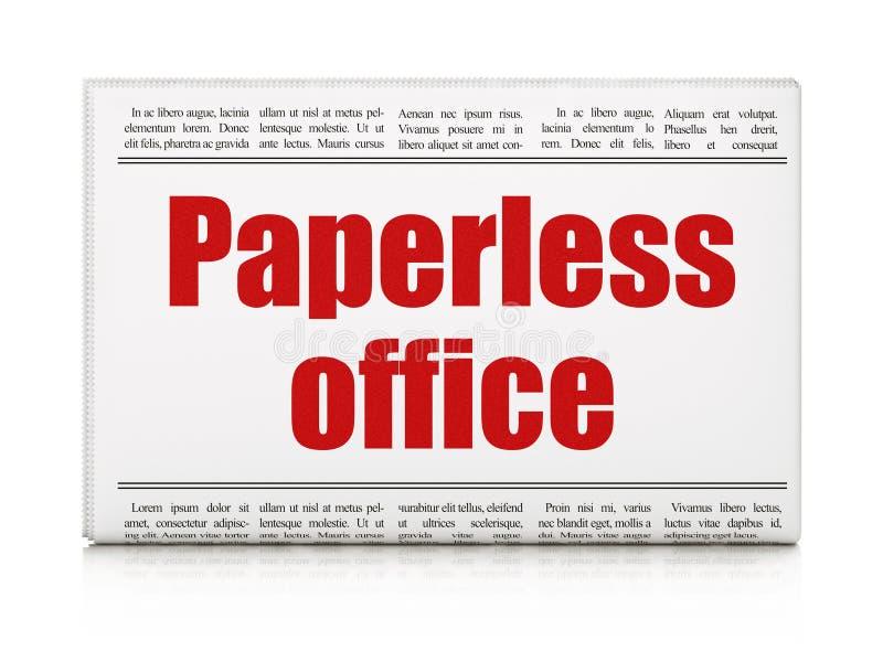 Έννοια χρηματοδότησης: χωρίς χαρτί γραφείο τίτλων εφημερίδων στοκ εικόνα