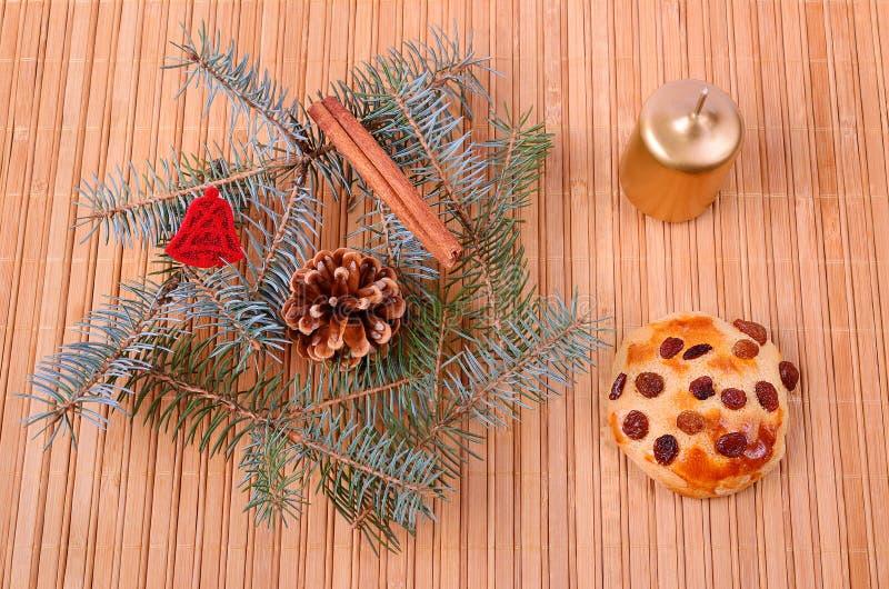 Έννοια Χριστουγέννων στο ξύλινο υπόβαθρο στοκ εικόνα