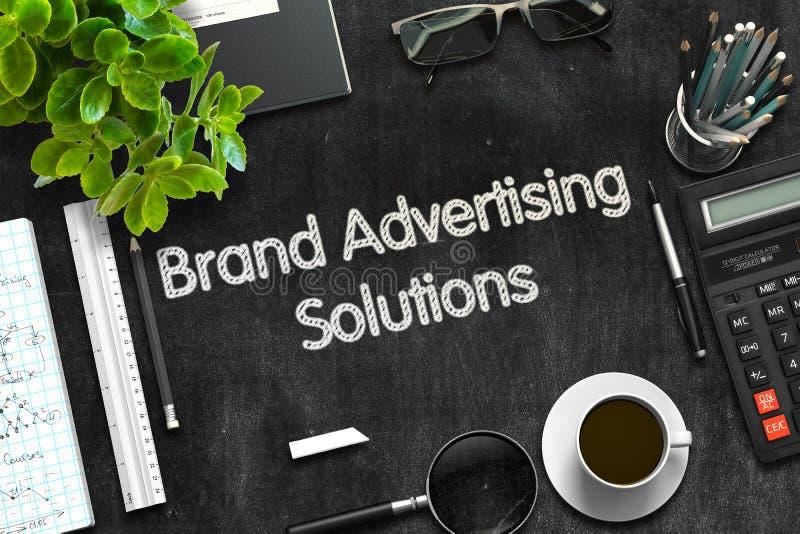 Έννοια λύσεων διαφήμισης εμπορικών σημάτων τρισδιάστατος δώστε στοκ φωτογραφίες
