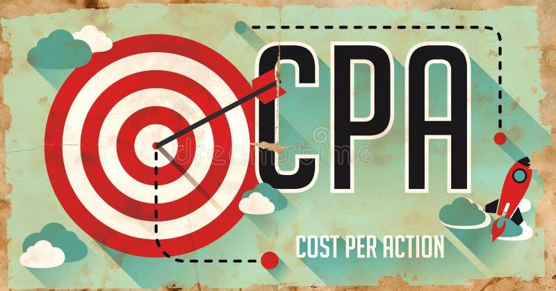 Έννοια CPA. Αφίσα στο επίπεδο σχέδιο. ελεύθερη απεικόνιση δικαιώματος