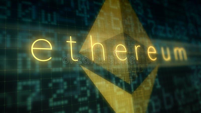 Έννοια crypto του νομίσματος, ethereum ελεύθερη απεικόνιση δικαιώματος