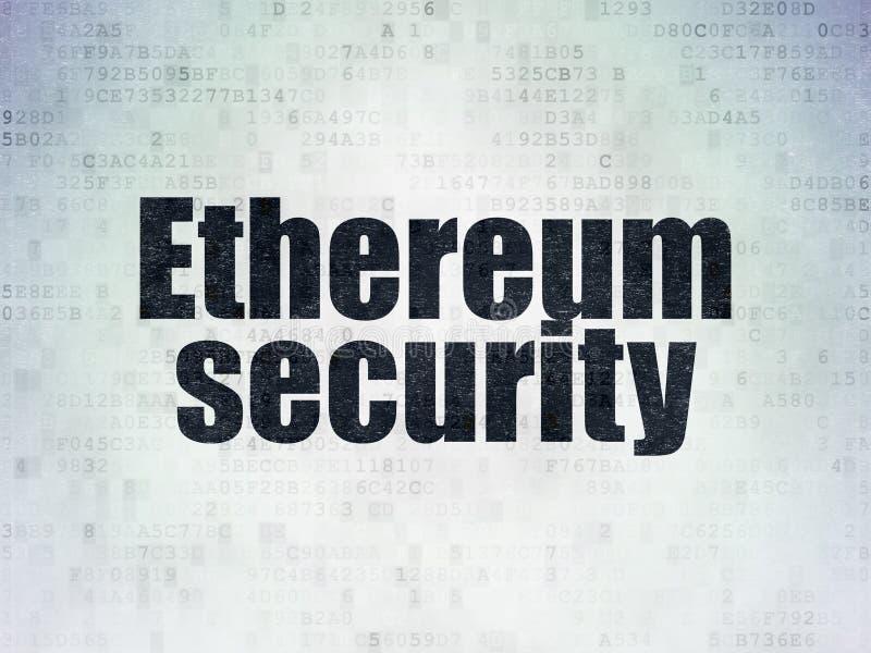 Έννοια Cryptocurrency: Ασφάλεια Ethereum στο υπόβαθρο εγγράφου ψηφιακών στοιχείων ελεύθερη απεικόνιση δικαιώματος