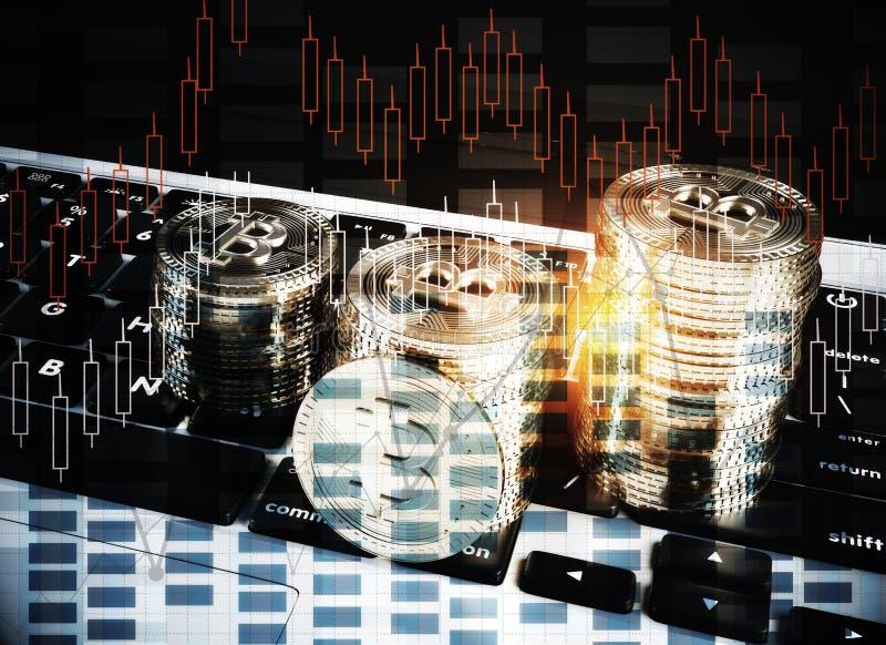Έννοια Cryptocurrency στοκ φωτογραφίες