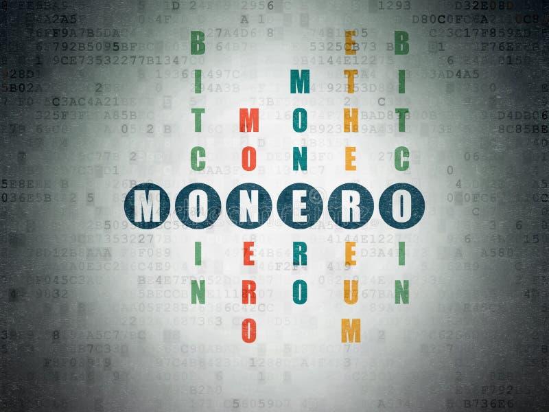 Έννοια Cryptocurrency: Monero στο γρίφο σταυρόλεξων απεικόνιση αποθεμάτων