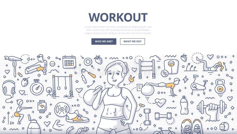 Έννοια Doodle Workout ελεύθερη απεικόνιση δικαιώματος
