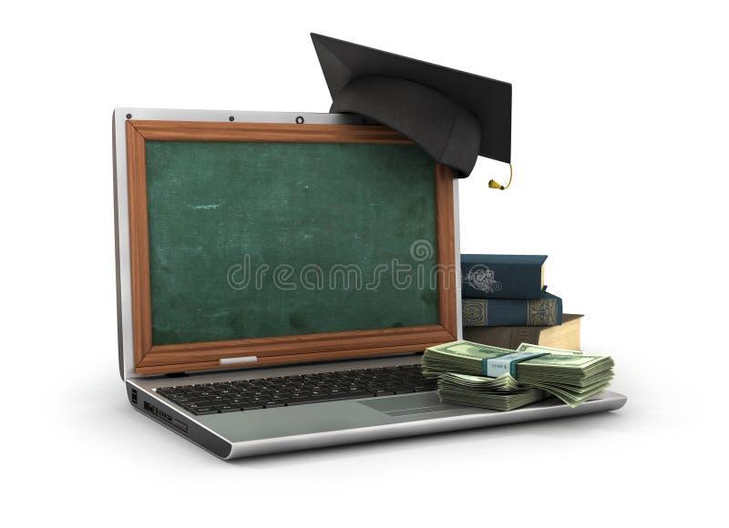 Έννοια on-line να μελετήσει ή webinar διανυσματική απεικόνιση