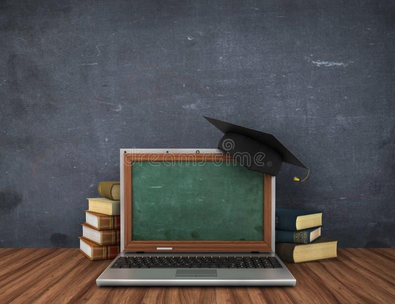 Έννοια on-line να μελετήσει ή webinar απεικόνιση αποθεμάτων