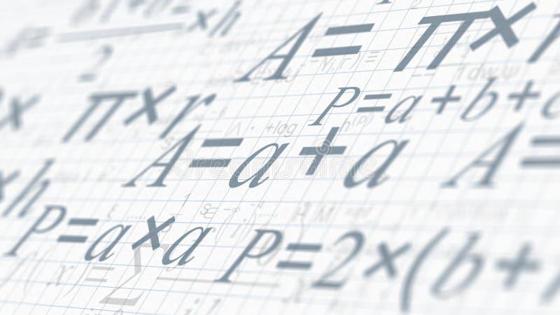 Έννοια Math και έρευνας ελεύθερη απεικόνιση δικαιώματος