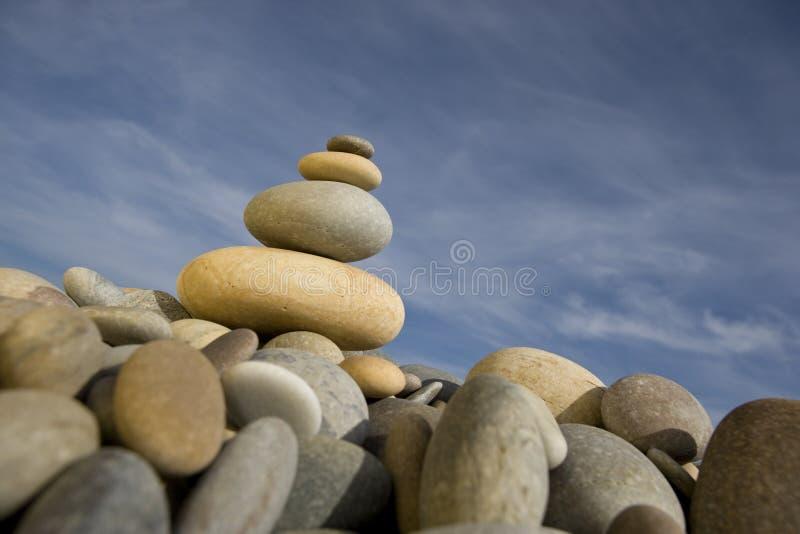 έννοια peebles pile round spa zen στοκ φωτογραφία με δικαίωμα ελεύθερης χρήσης