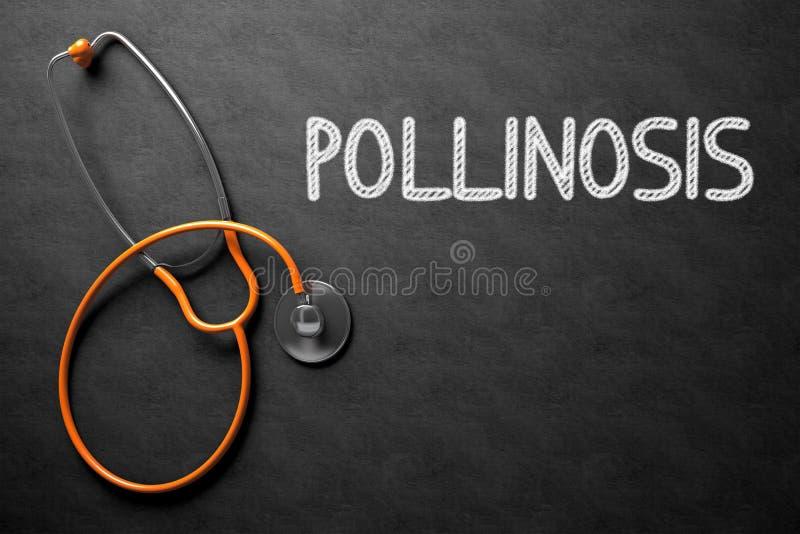 Έννοια Pollinosis στον πίνακα κιμωλίας τρισδιάστατη απεικόνιση στοκ εικόνες