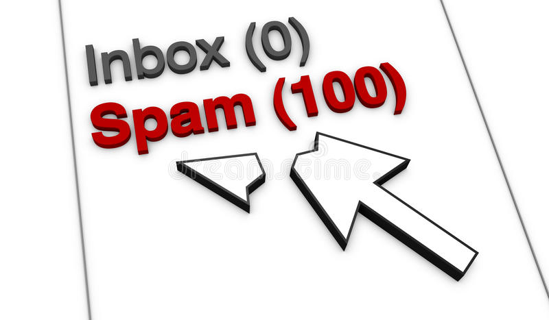 έννοια spam διανυσματική απεικόνιση