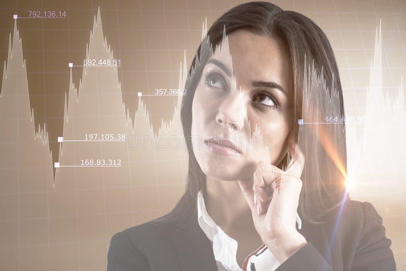 Έννοια Stats και εμπόρων στοκ φωτογραφία