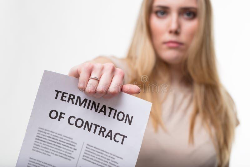 Έννοια termiantion απασχόλησης, προϊστάμενος που απολύει σας στοκ φωτογραφίες