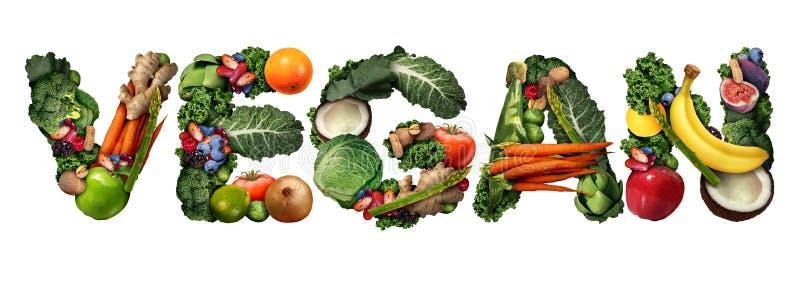 Έννοια Vegan διανυσματική απεικόνιση