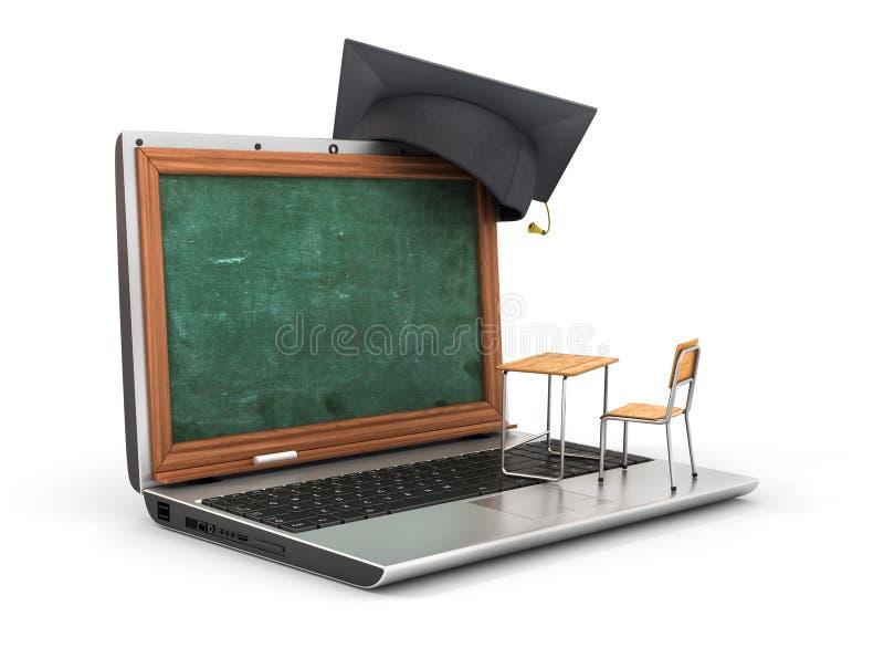 έννοια webinar Schooldesk ελεύθερη απεικόνιση δικαιώματος