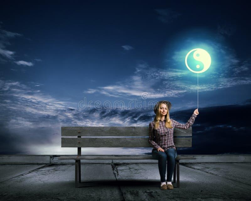 έννοια yang yin στοκ φωτογραφία