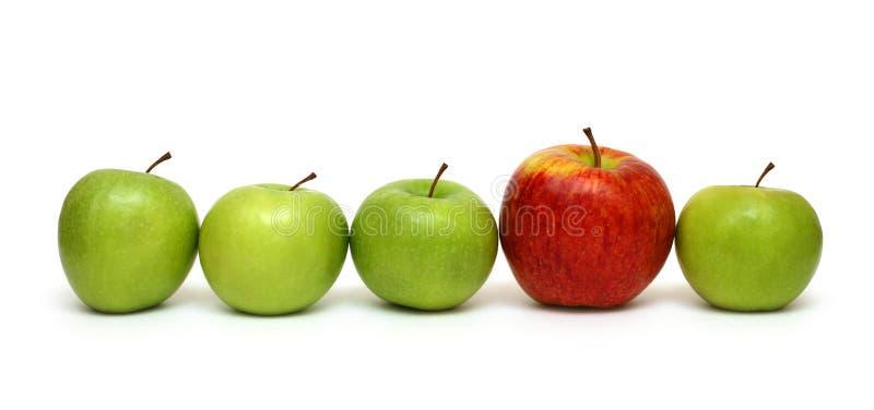 έννοιες μήλων διαφορετι&kap στοκ εικόνες