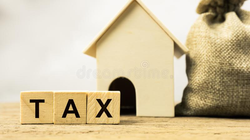 Έννοιες ποσοστού ενός φόρου περιουσίας ή millage στοκ φωτογραφία