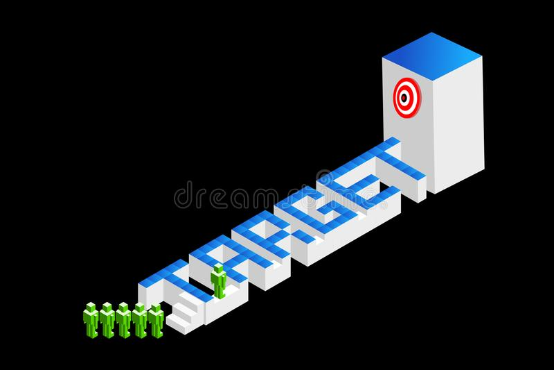 Έννοιες της ομαδικής εργασίας, του στρατηγικού προγραμματισμού, ή του ανταγωνισμού επίσης corel σύρετε το διάνυσμα απεικόνισης Απ διανυσματική απεικόνιση