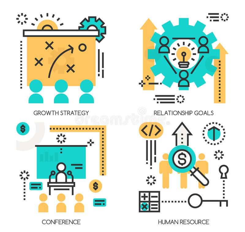 Έννοιες της στρατηγικής αύξησης, στόχοι σχέσης διανυσματική απεικόνιση