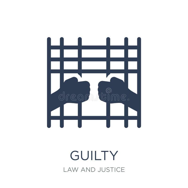 Ένοχο εικονίδιο  ελεύθερη απεικόνιση δικαιώματος
