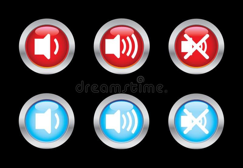ένταση του ήχου εικονιδίων διανυσματική απεικόνιση