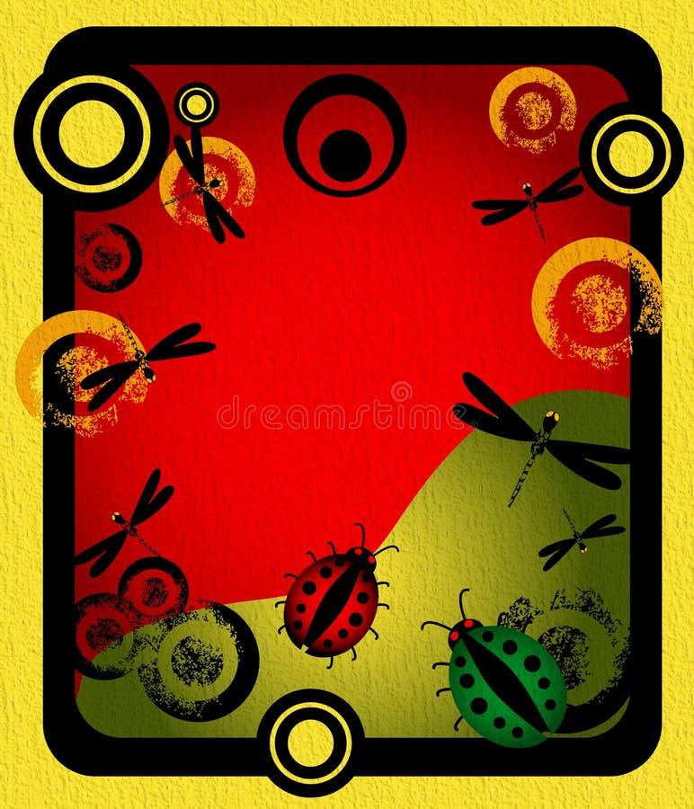 έντομα πλαισίων κύκλων απεικόνιση αποθεμάτων