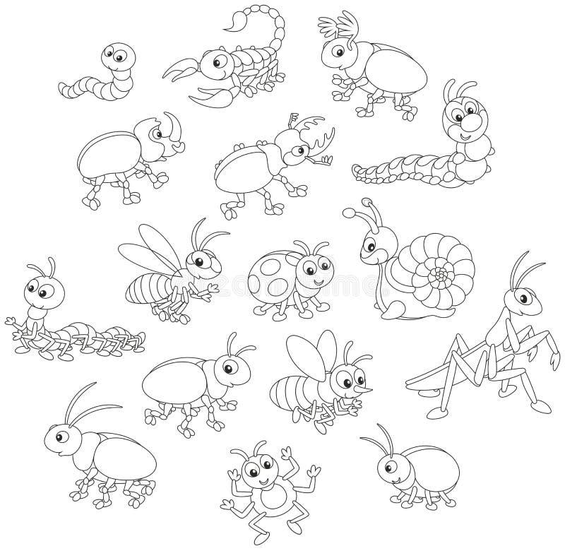 έντομα που τίθενται διανυσματική απεικόνιση