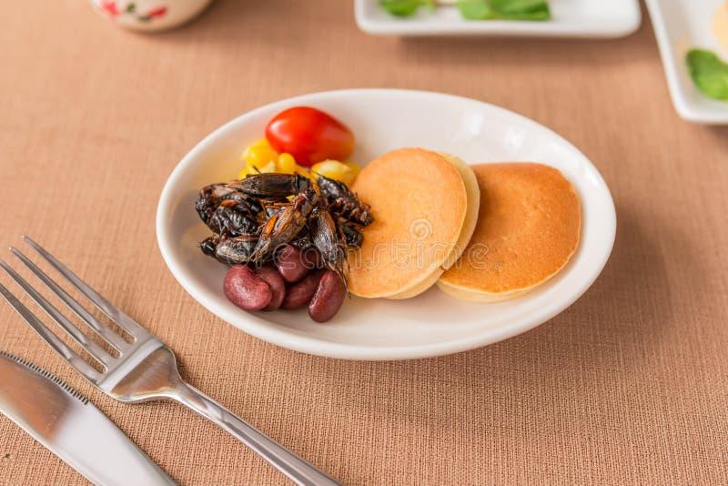 Έντομο γρύλων, καλαμπόκι, κόκκινο φασόλι, ντομάτα στοκ φωτογραφίες