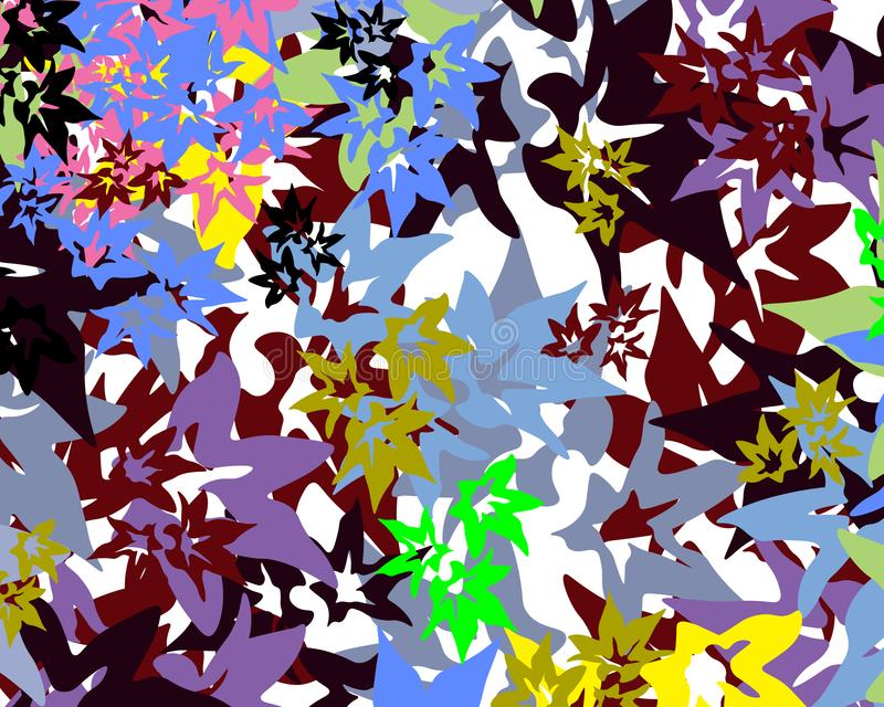 Έντονα πολύχρωμα αστεία σχήματα σε λευκό φόντο στοκ εικόνα με δικαίωμα ελεύθερης χρήσης